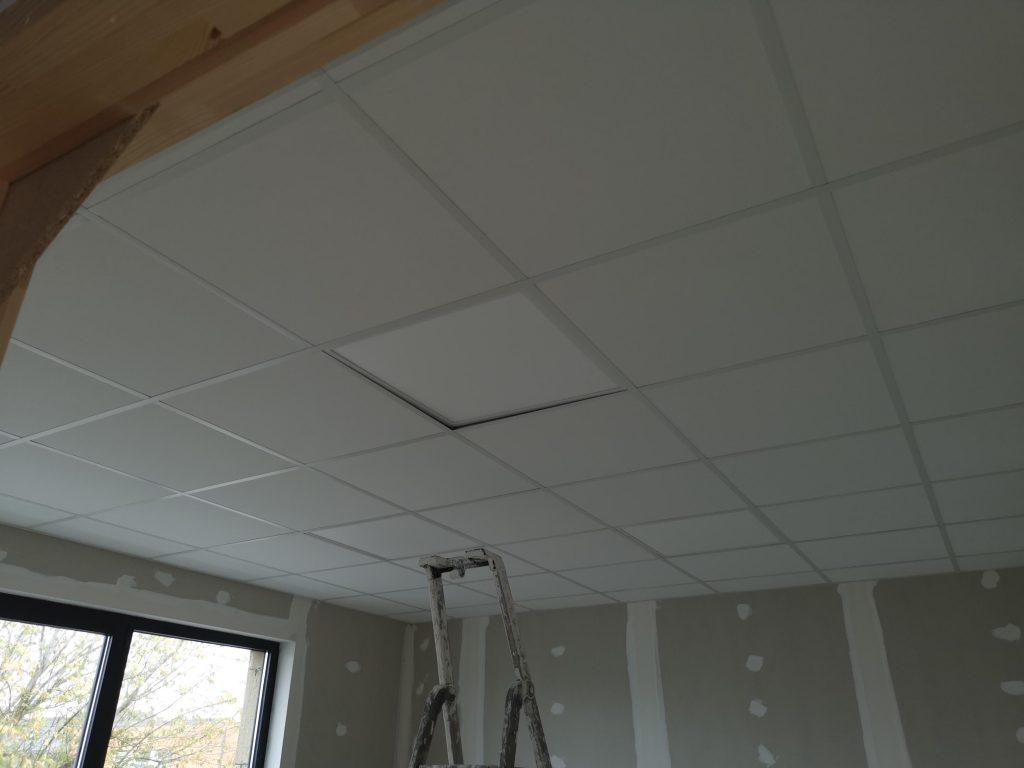 Chantier aux plafond et plinthes